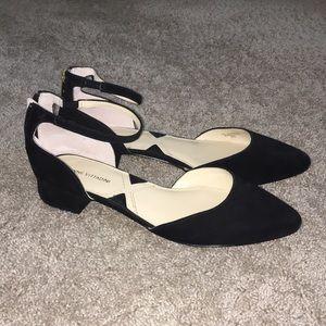 Kitten toe black heels
